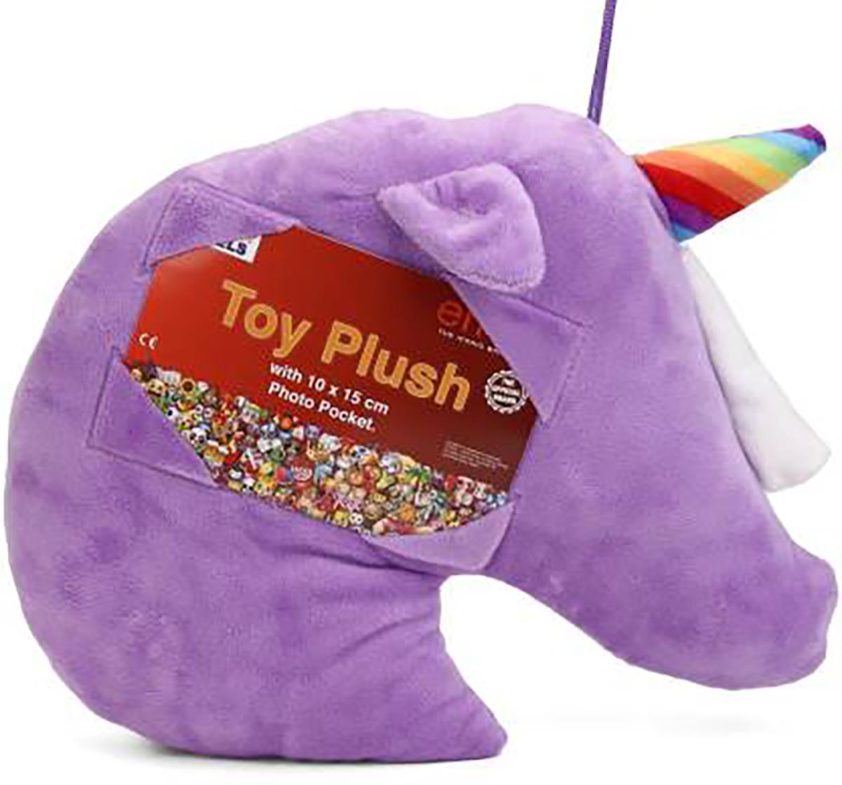 Emoji   Emoji Unicorn 30 Cm Plush Accessory for Kids age 12M+ (Purple)