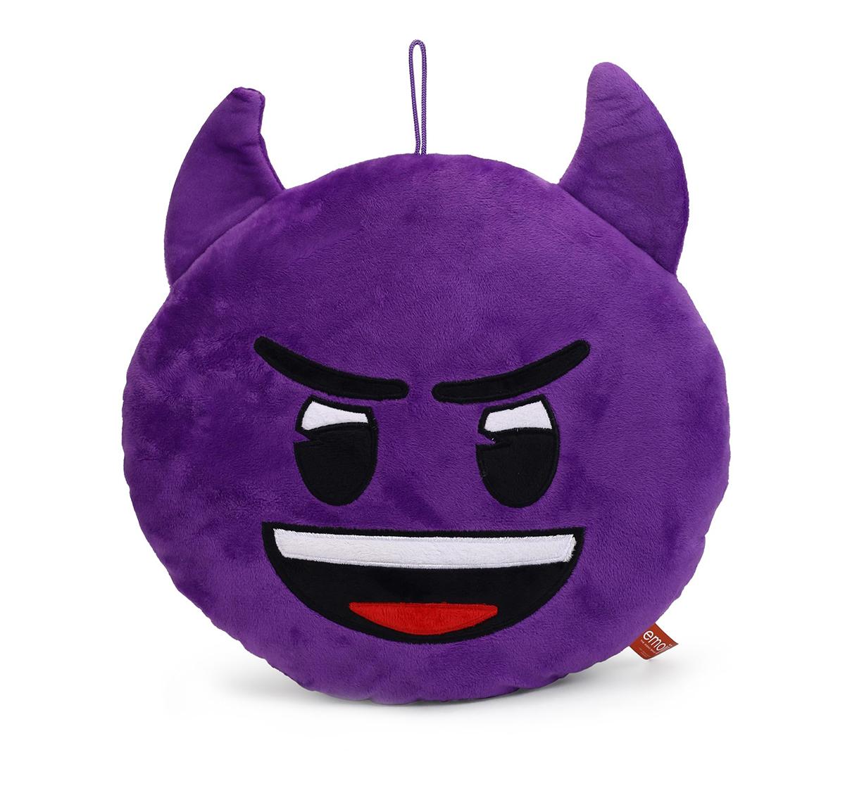 Emoji | My Baby Excel Emoji  Devil Face 30 Cm Plush Accessories for Kids age 1Y+ (Purple)