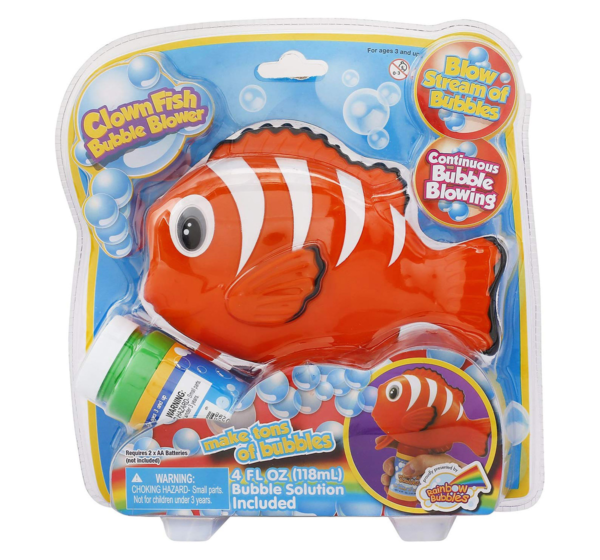 Rainbow Bubbles | Rainbow Bubbles Fish Bubble Blower (3 Ounce)