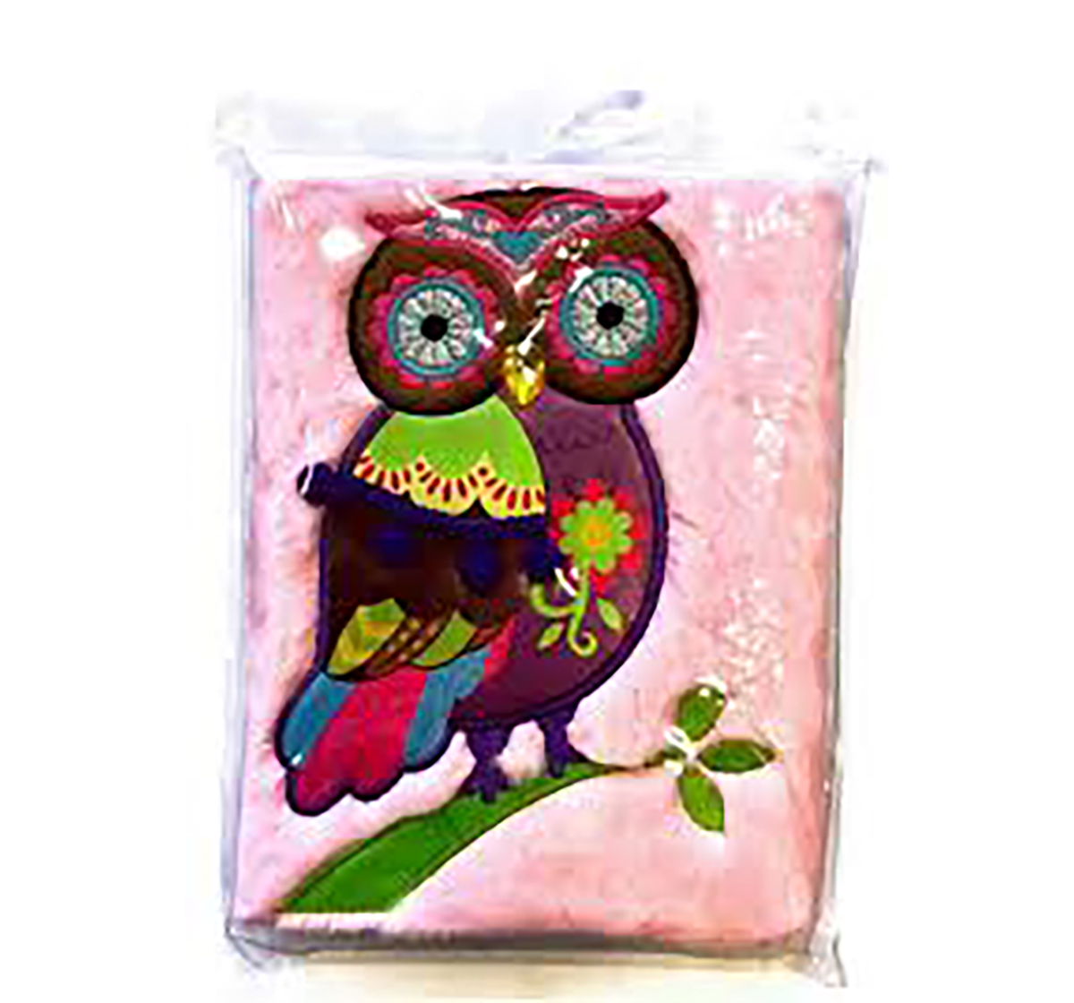 Mirada | Mirada Winky The Owl Plush Notebook- Study & Desk Accessories for Kids age 3Y+ (Pink)