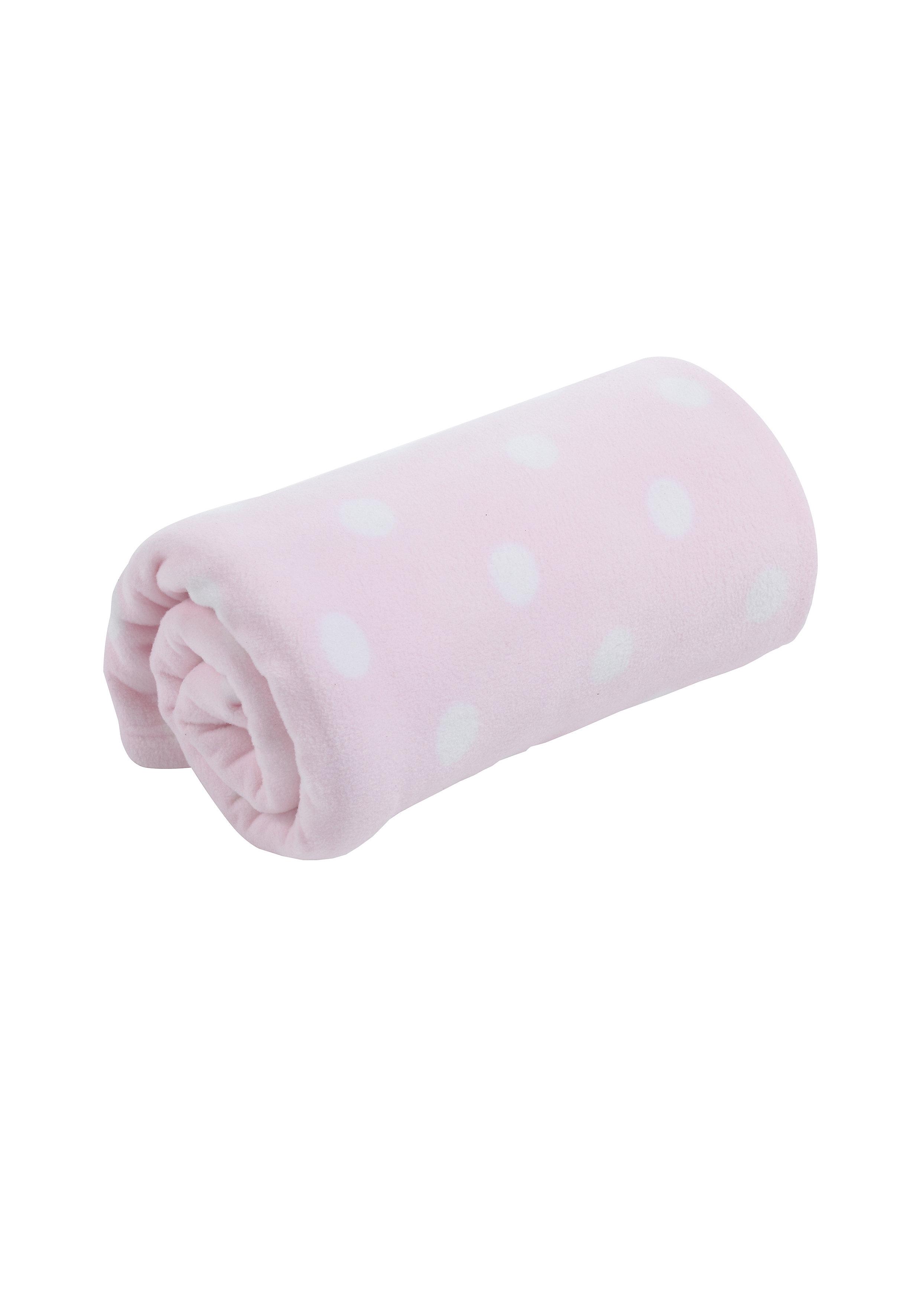 Mothercare | Mothercare Fleece Moses/Crib Blanket Pink