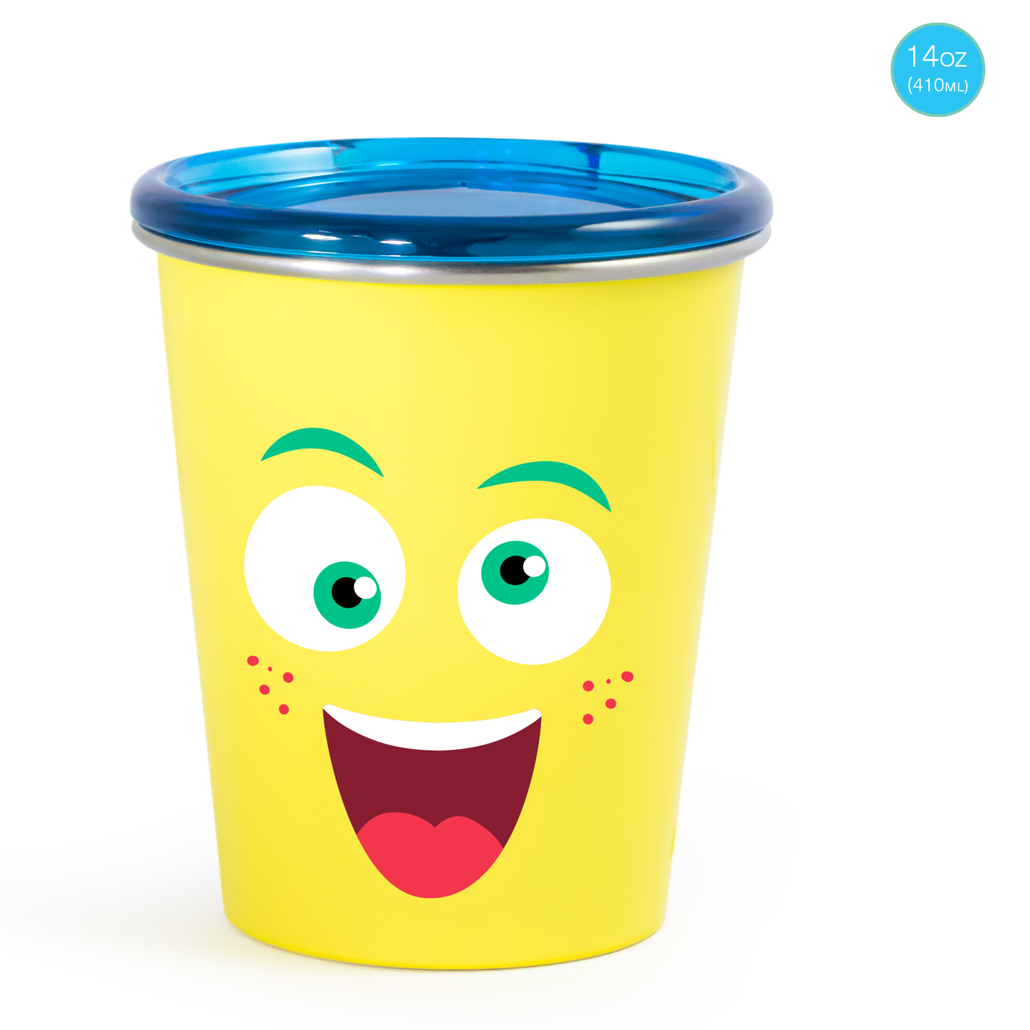 Mothercare   Rabitat Spill Free Stainless Steel Cup - Mad Eye