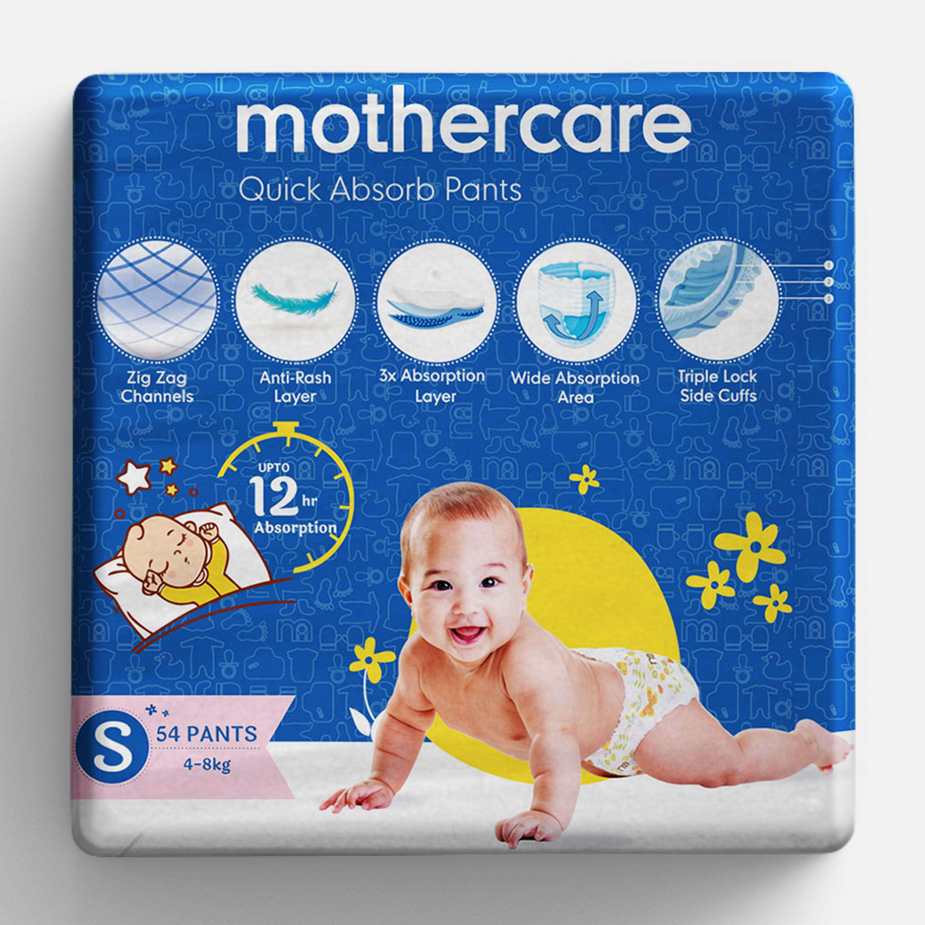 Mothercare   Mothercare Quick Absorb Diaper Pants Small- 54 pcs