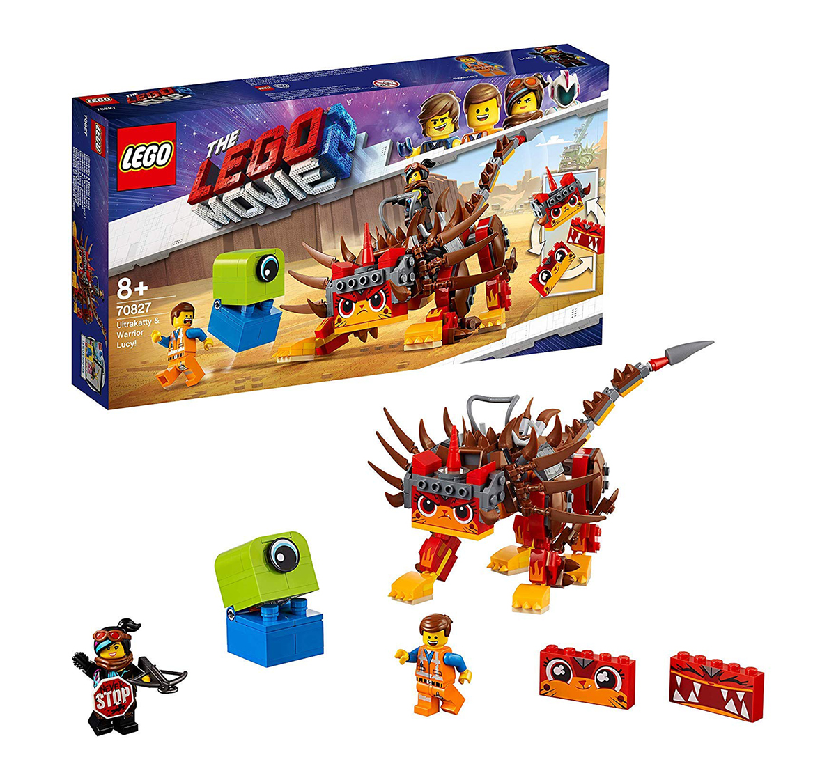 LEGO | Lego The Movie 2 Ultrakatty & Warrior Lucy (383 Pcs) 70827  Blocks for Kids age 8Y+