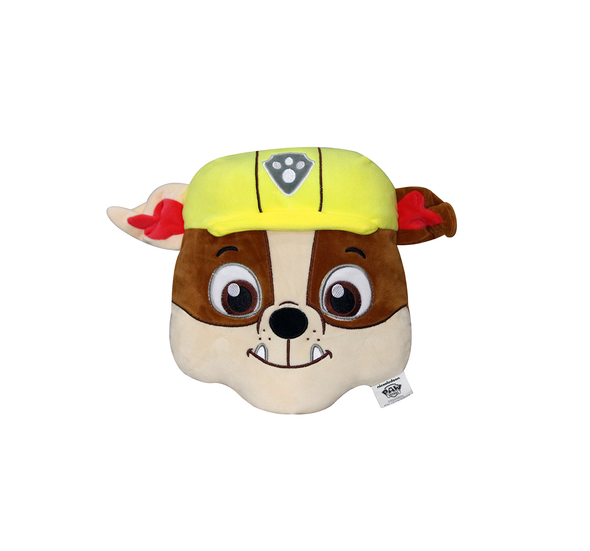 Paw Patrol | Paw Patrol Face Playtoy Rubble Plush Accessories for Kids age 12M+ - 30.48 Cm