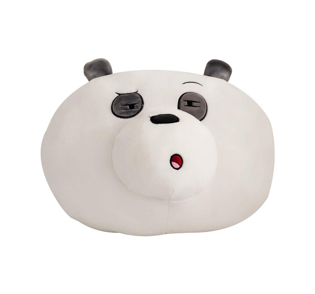 We Bare Bears   We Bare Bears Panda Bear Face Soft Toy 25 Cm for Kids age 12M+ (Brown)