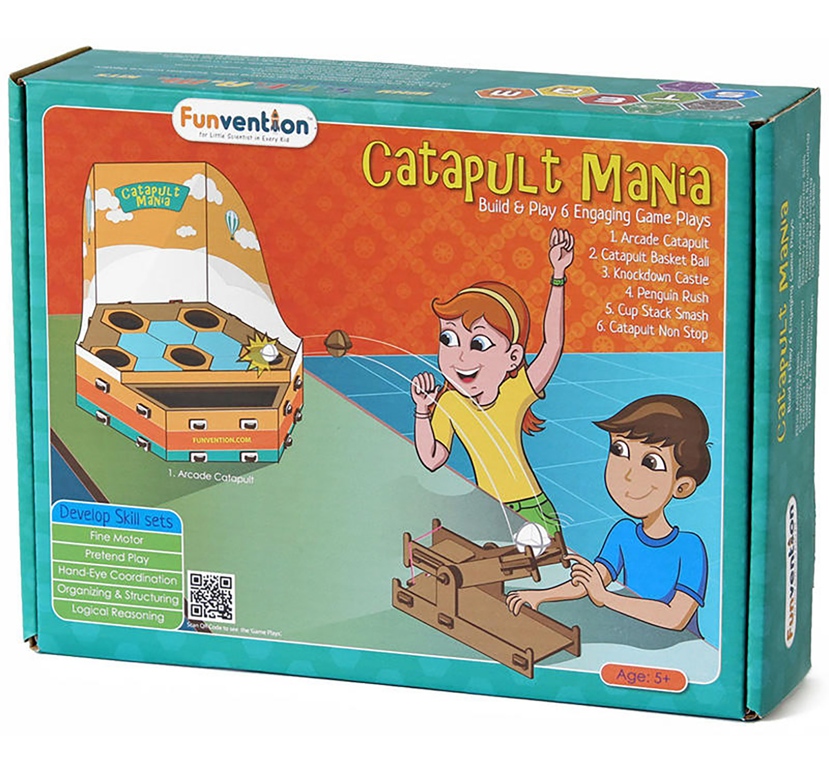 Funvention | Funvention Catapult Mania Stem for Kids Age 5Y+
