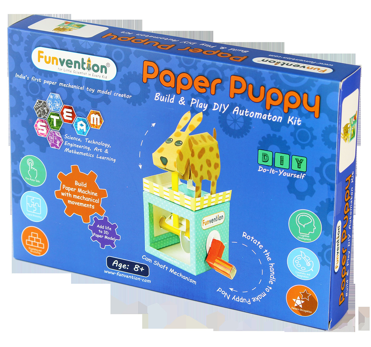 Funvention | Funvention Paper Puppy Automaton Stem for Kids Age 8Y+