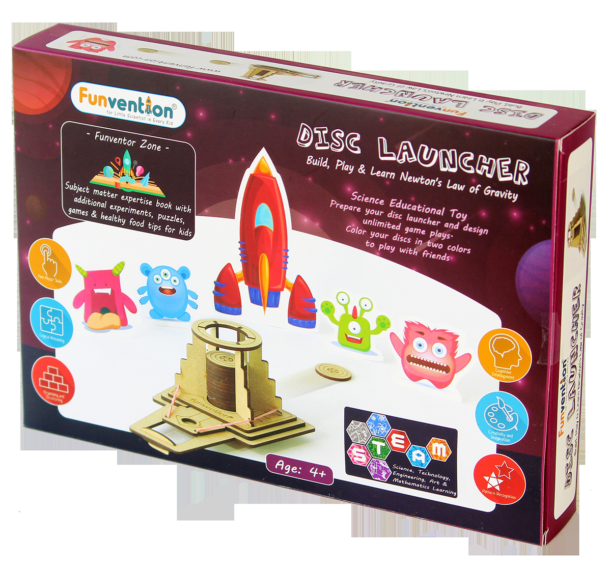 Funvention | Funvention Disc Launcher Stem for Kids Age 5Y+