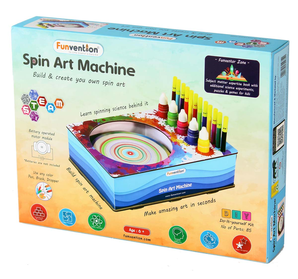 Funvention | Funvention Spin Art Machine Stem for Kids Age 8Y+