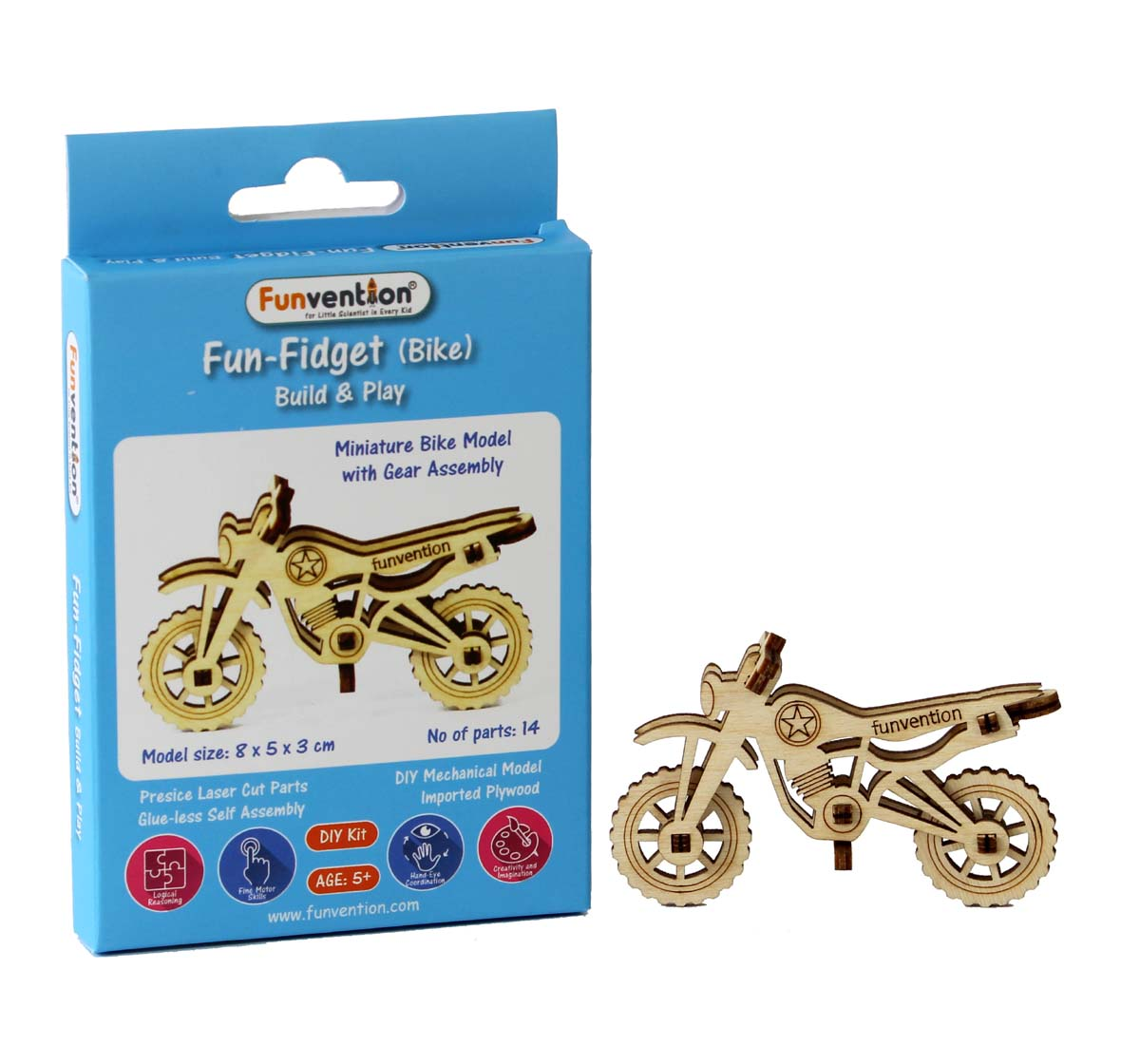 Funvention | Funvention Fun Fidgets - Assorted - Bike Model Stem for Kids Age 5Y+