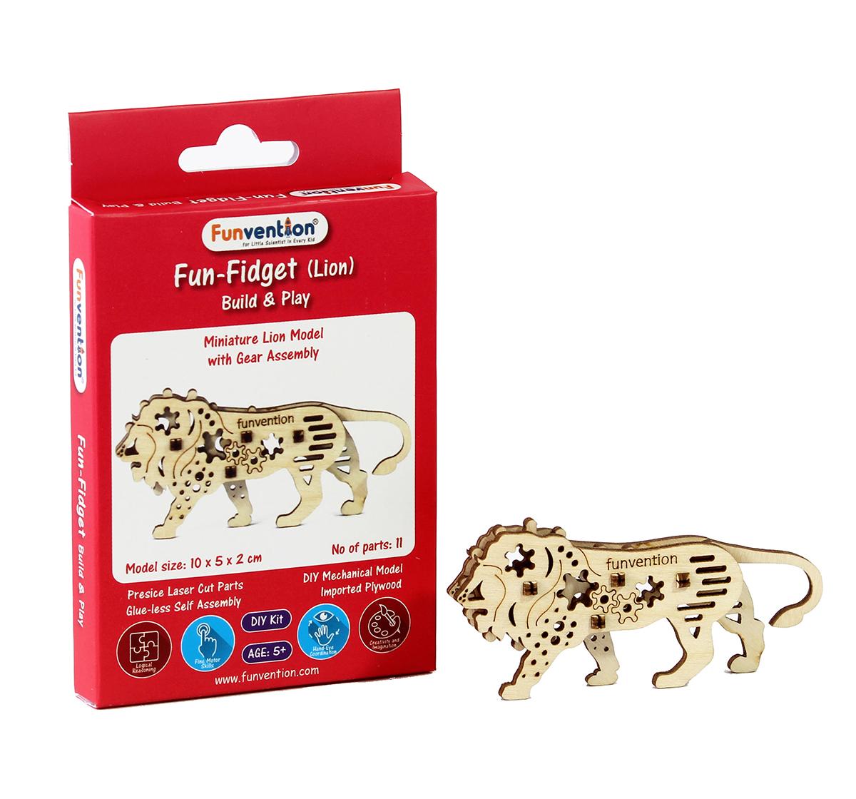 Funvention | Funvention Fun Fidgets - Jungle - Lion Model Stem for Kids Age 5Y+