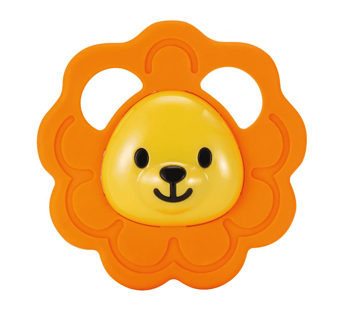 WinFun | Winfun safari fun teether lion New Born for Kids age 0M+ (Orange )