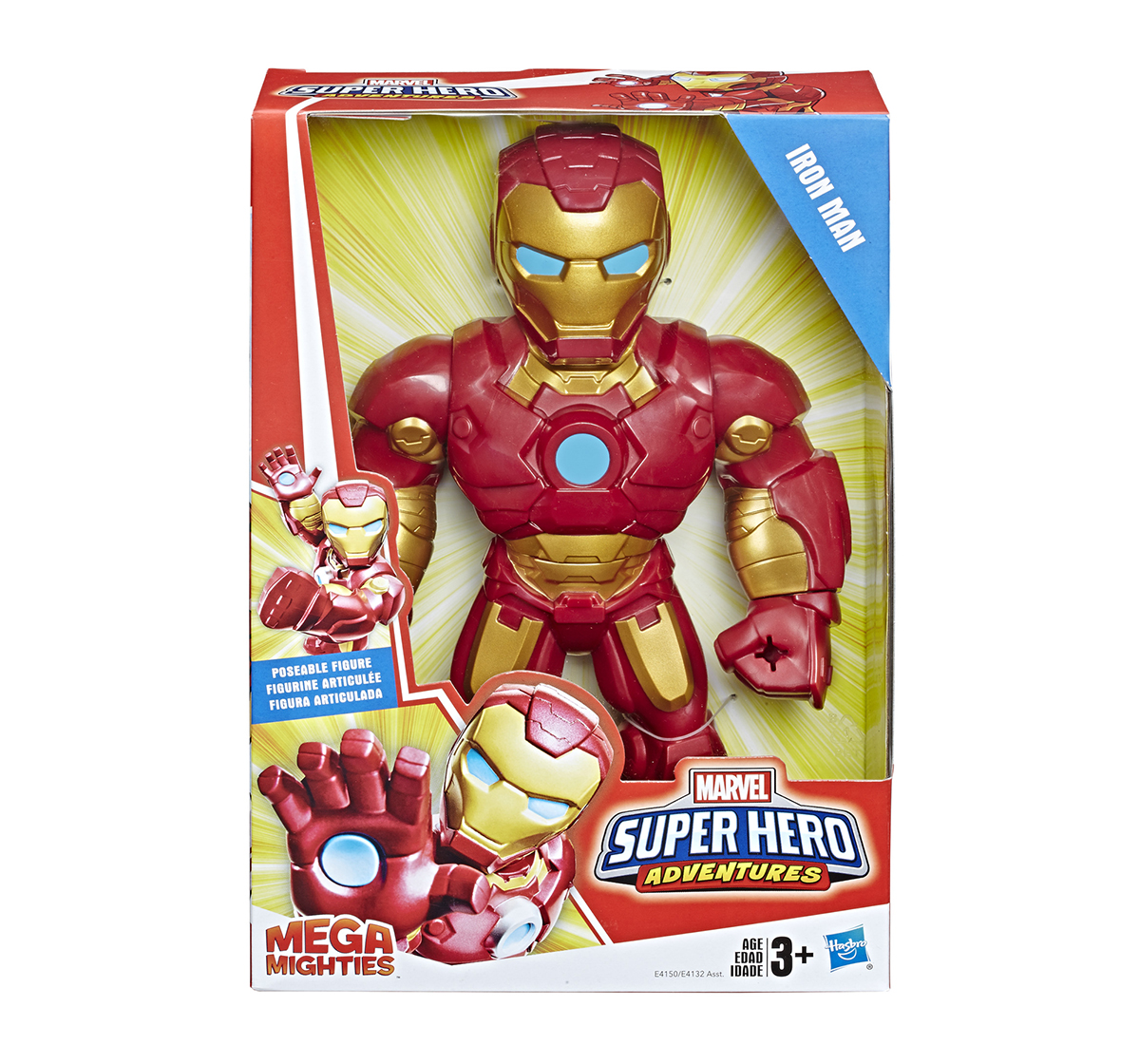 Mega Mighties | Marvel Super Hero Adventure Mega Mighties Iron Man Activity Toys for Boys age 3Y+