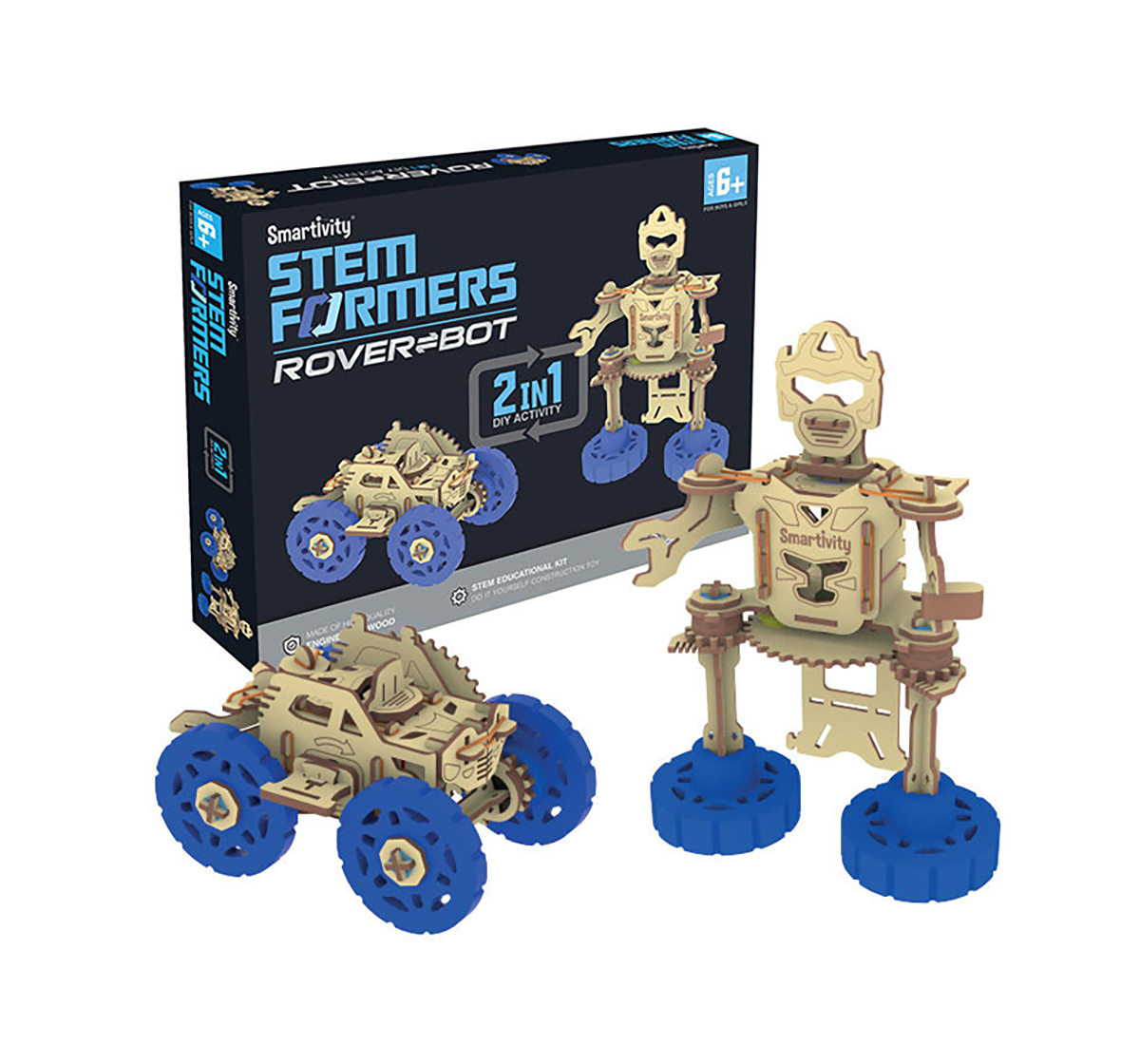 Smartivity | Smartivity Formers rover bot STEM for Kids age 6Y+