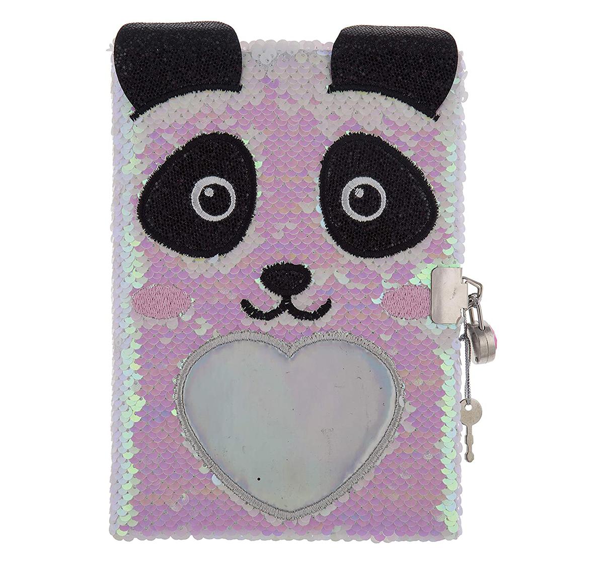 Mirada | Mirada Panda Flip Sequin Notebook/Diary Study & Desk Accessories for Girls age 3Y+ (White)