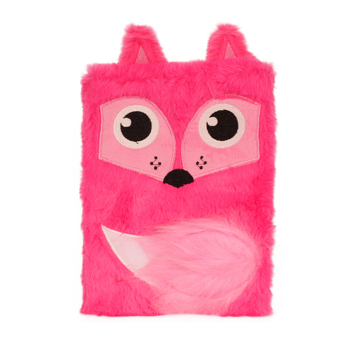 Mirada | Mirada  Whimsical Plush Fox Notebook - Study & Desk Accessories for Kids age 3Y+ (Pink)