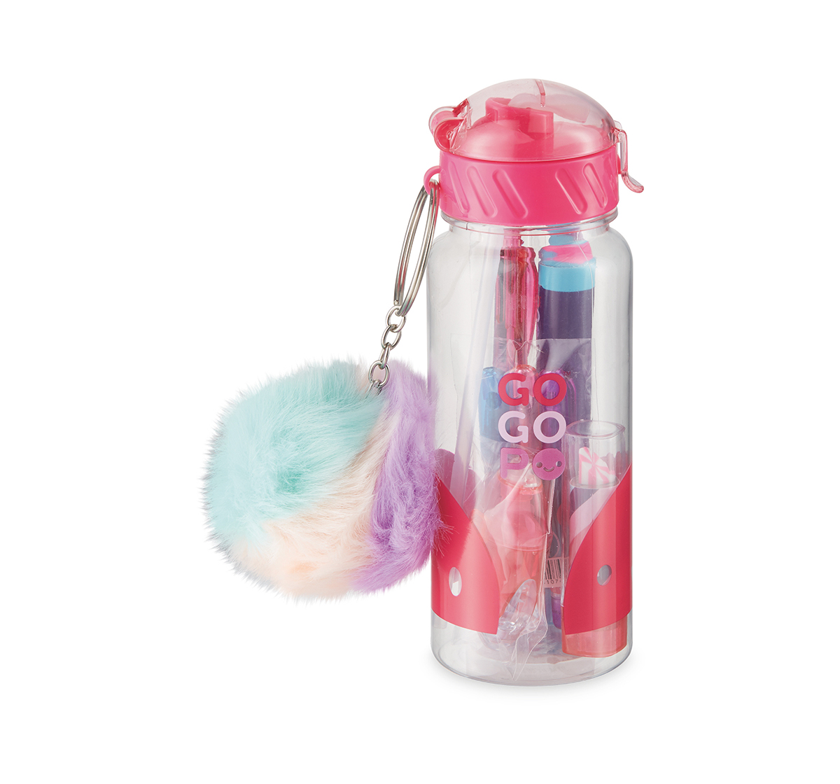 Gogopo   Gogopo Pink Sports Bottle Bundle School Stationery for Kids age 3Y+ (Pink)