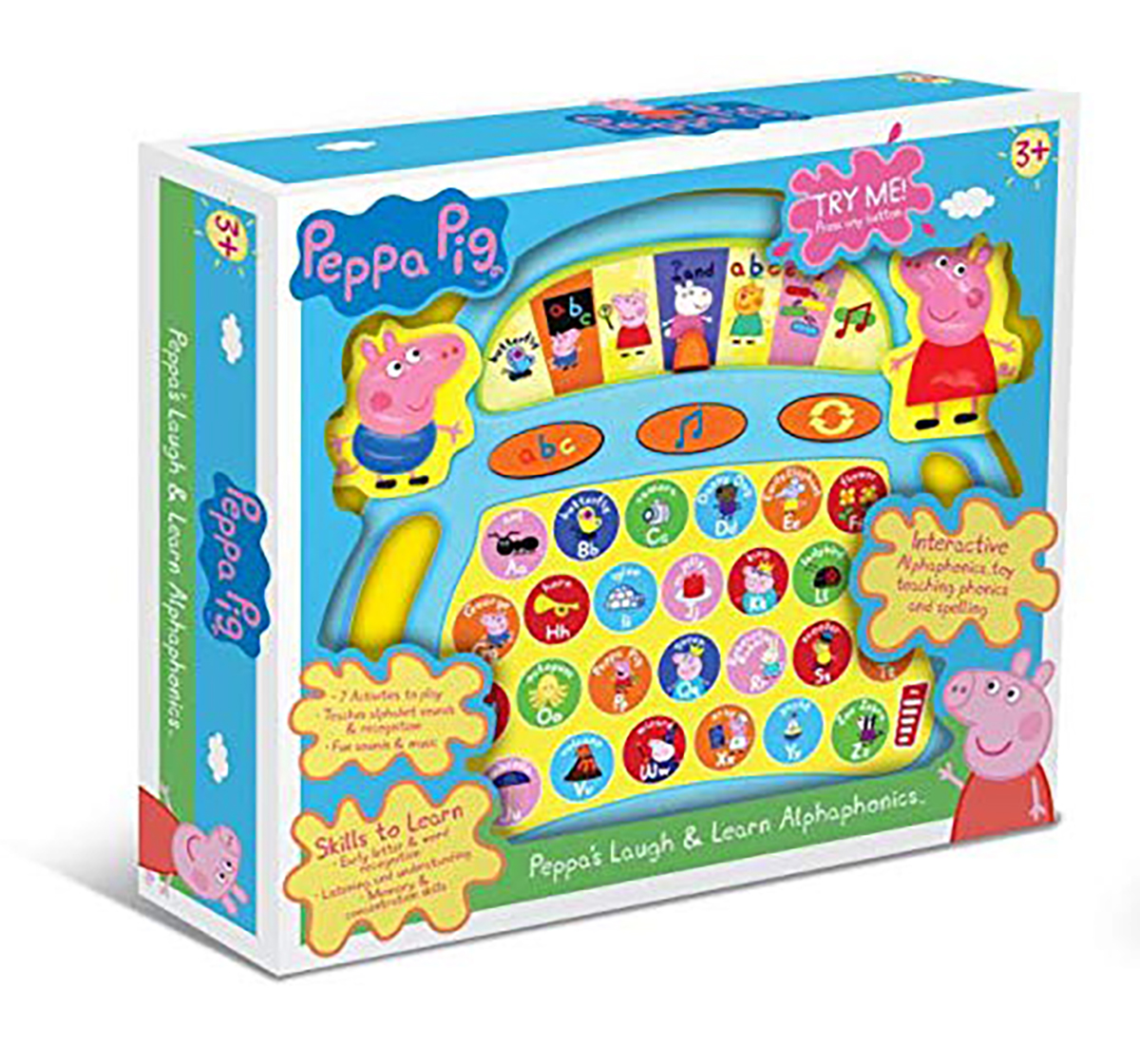 Peppa Pig | Peppa Pig  Laugh And Learn  Alphaphonics Learning Toys for Kids age 3Y+