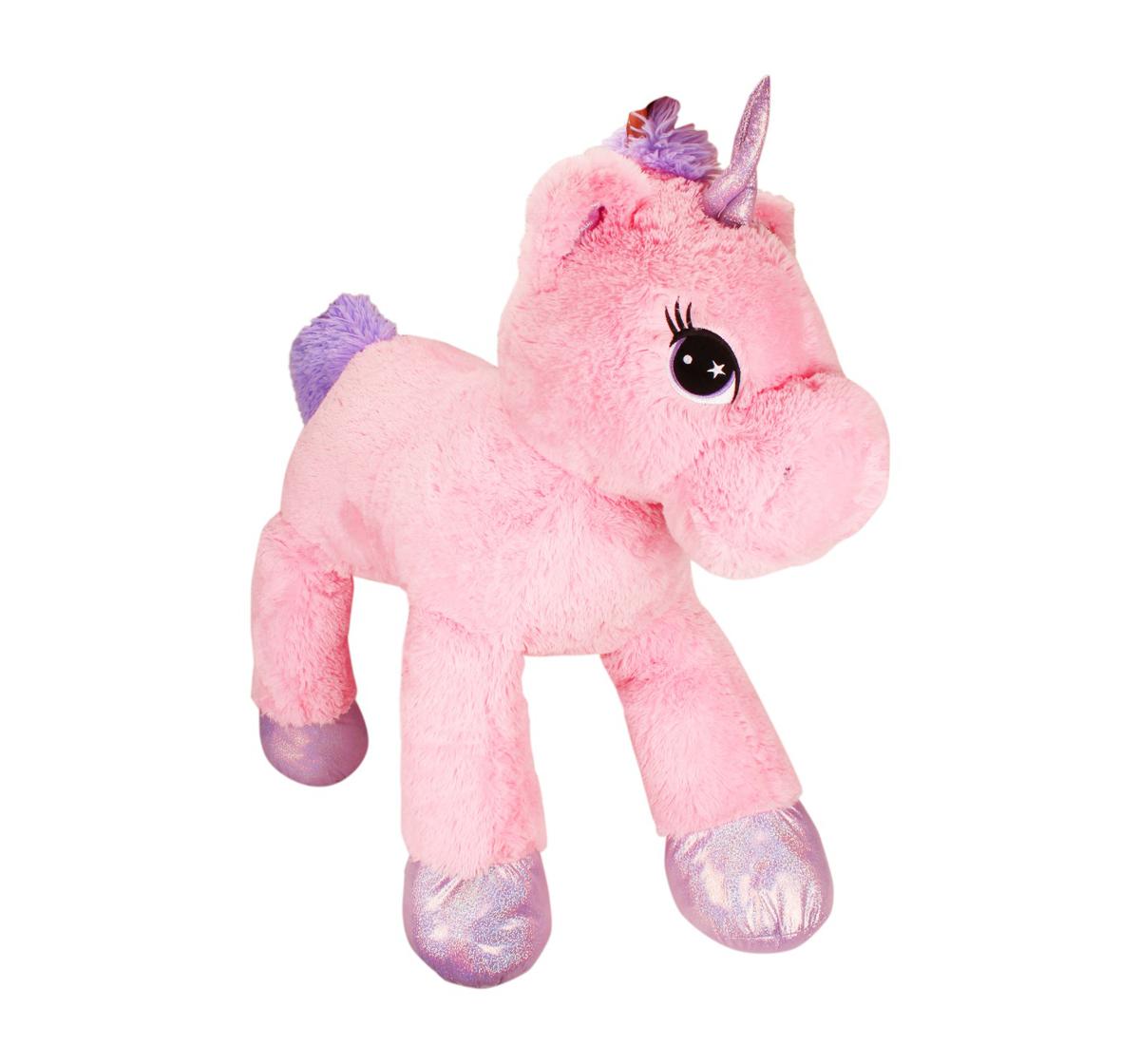 Fuzzbuzz | Fuzzbuzz Lying Unicorn Plush - 100Cm Quirky Soft Toys for Kids age 12M+ - 40 Cm (Pink)