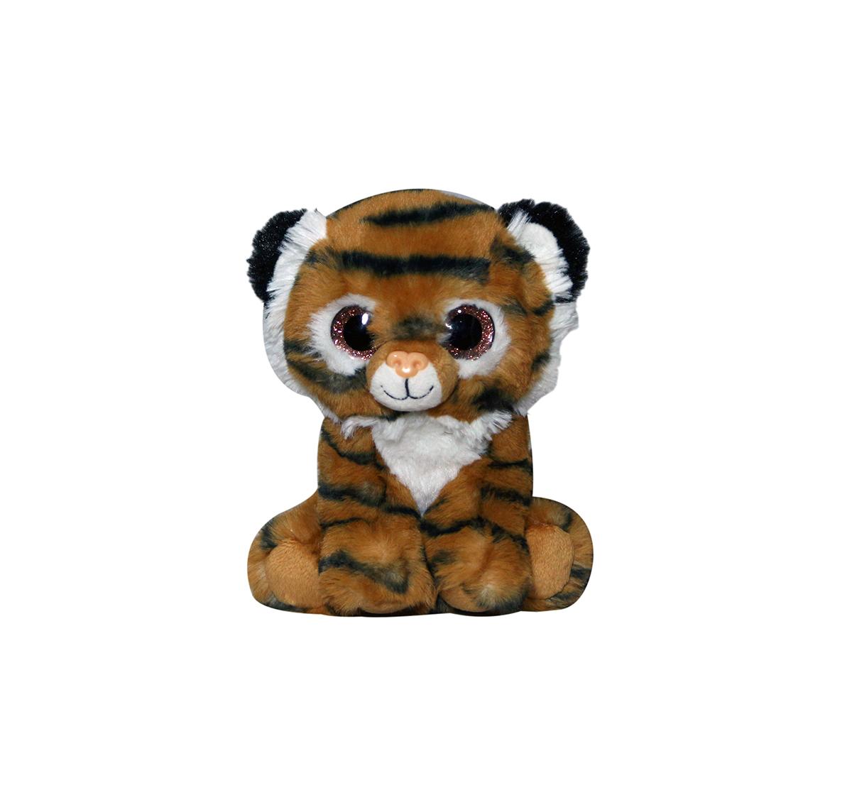Soft Buddies | Softbuddies Big Eye Tiger Quirky Soft Toys for Kids age 3Y+ - 20 Cm (Brown)