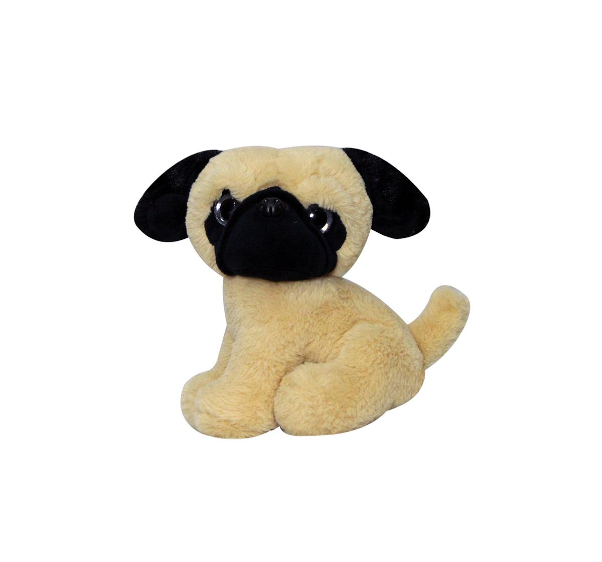 Soft Buddies |  Softbuddies PugQuirky Soft Toys for Kids age 3Y+ - 24 Cm (Brown)