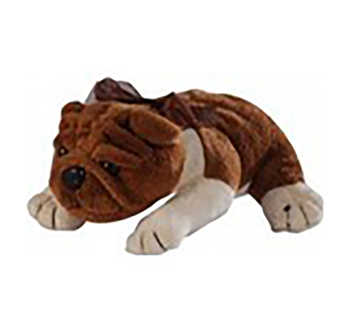 Soft Buddies | Soft Buddies Lying Bull Dog Large Quirky Soft Toys for Kids age 3Y+ - 37 Cm (Brown)