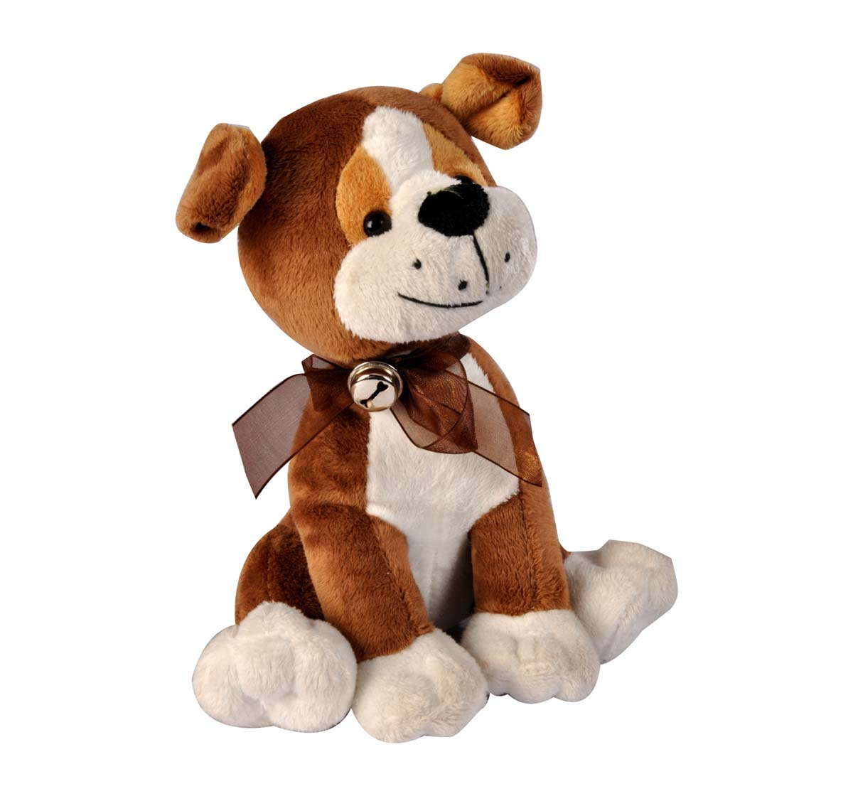 Soft Buddies | Softbuddies Cute Brown Dog Large, Quirky Soft Toys for Kids age 3Y+ 35 Cm