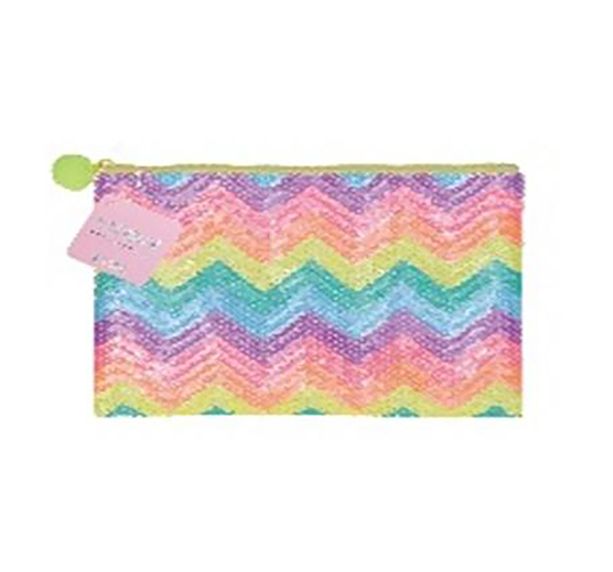 Syloon   Syloon Sequin Pencil Pouch Zig Zag Rainbow Pencil Pouches & Boxes for Kids age 6Y+