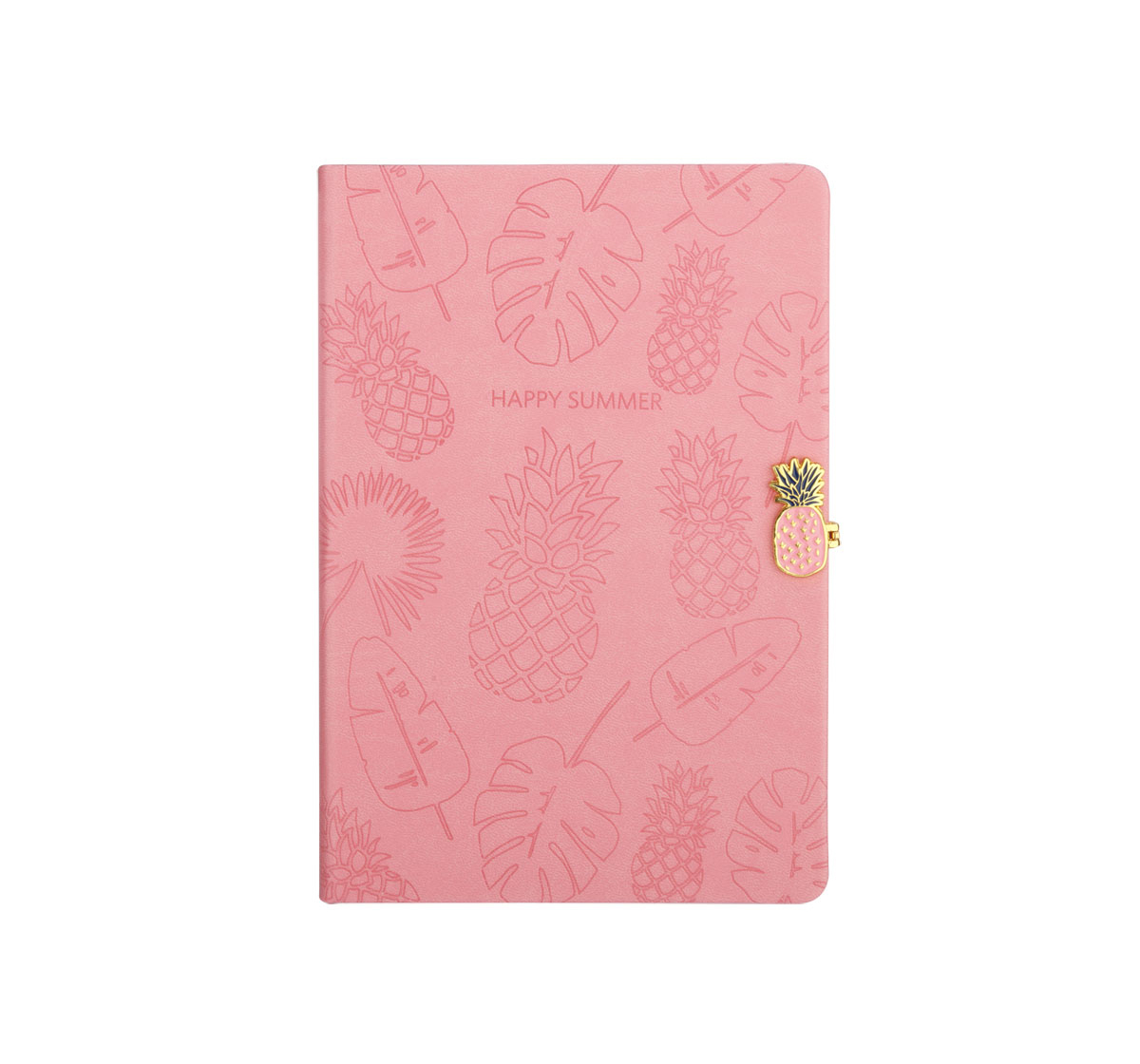 Syloon | Syloon Tropical - Pink Pu A5 Notebook Study & Desk Accessories for Kids age 5Y+ (Pink)