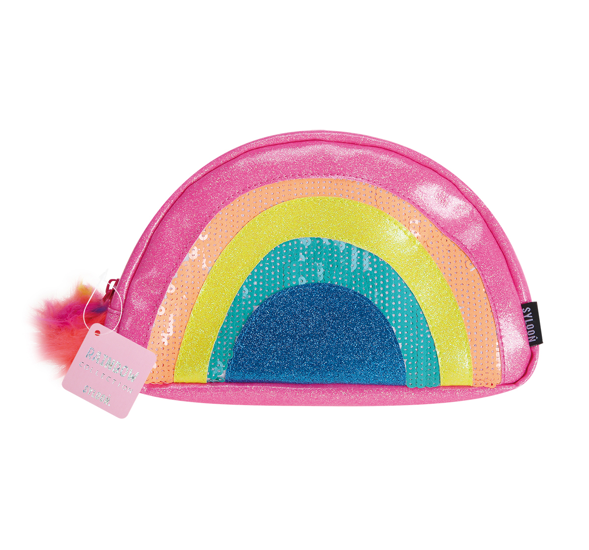 Syloon   Syloon Rainbow - Glitter Make Up Pouch Pencil Pouches & Boxes for Kids age 5Y+