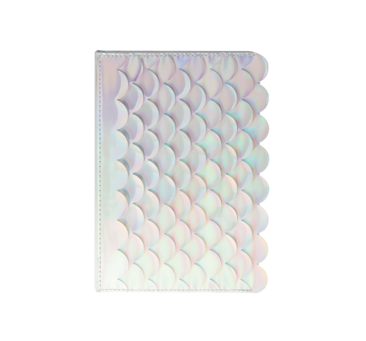 Syloon | Syloon Metallic - Mermaid White Holo Pu A5 Notebook Study & Desk Accessories for Kids age 5Y+ (White)