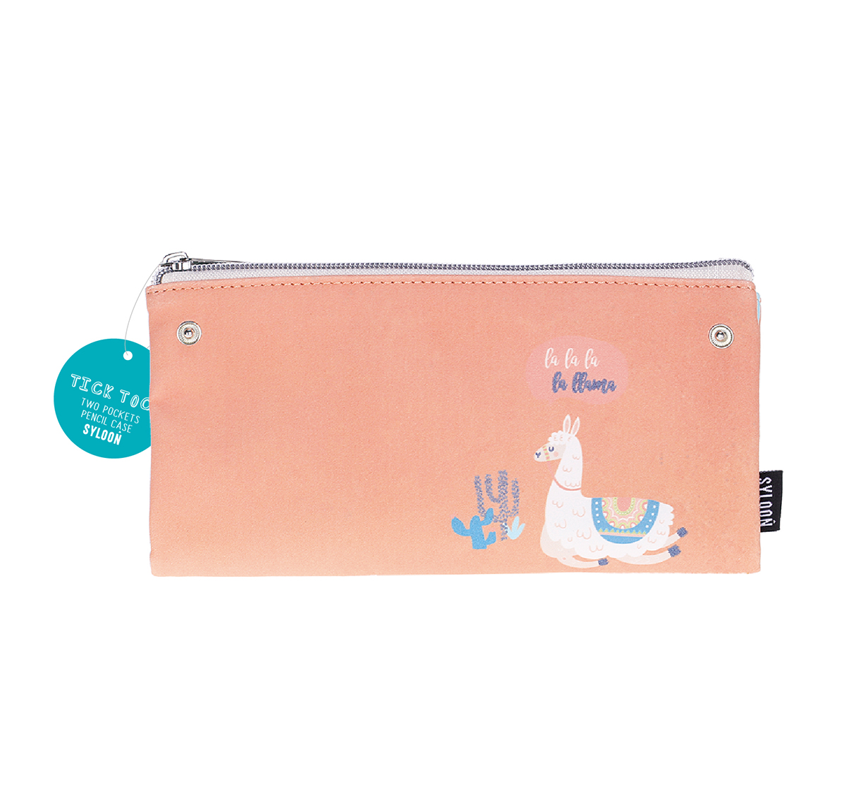 Syloon   Syloon Sloth Llama - Double Zipper Pouch Pencil Pouches & Boxes for Kids age 5Y+