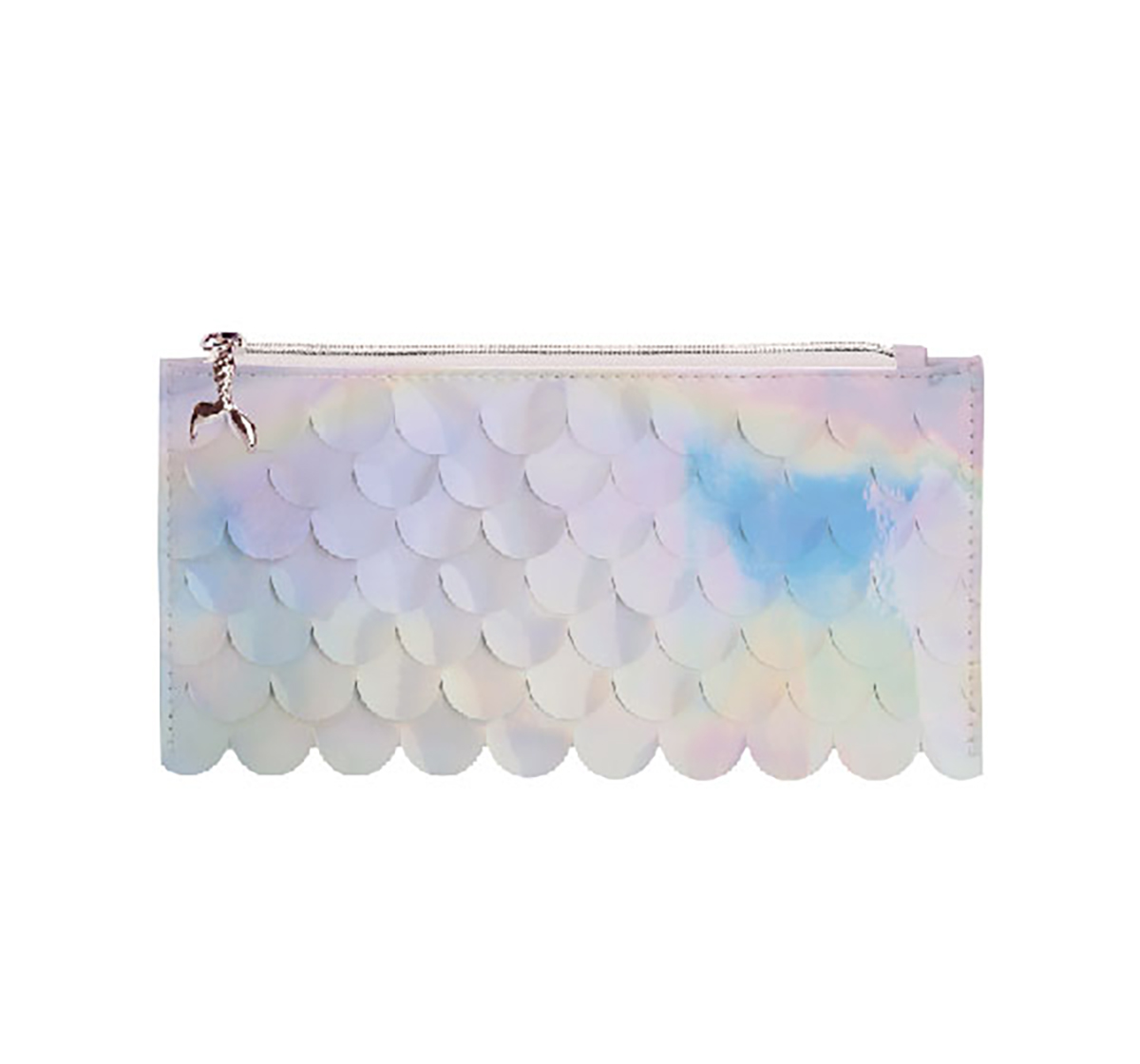 Syloon   Syloon Metallic - White Mermaid Scale Pencil Pouch Pencil Pouches & Boxes for Kids age 5Y+