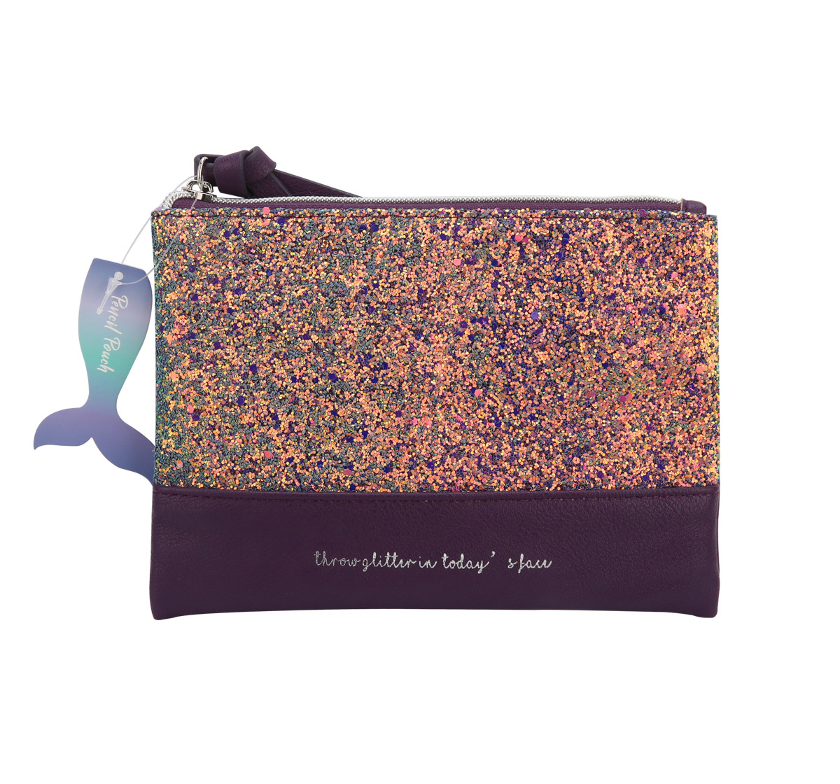 Syloon   Syloon Metallic - Purple Glitter Pu Pencil Pouch Pencil Pouches & Boxes for Kids age 5Y+