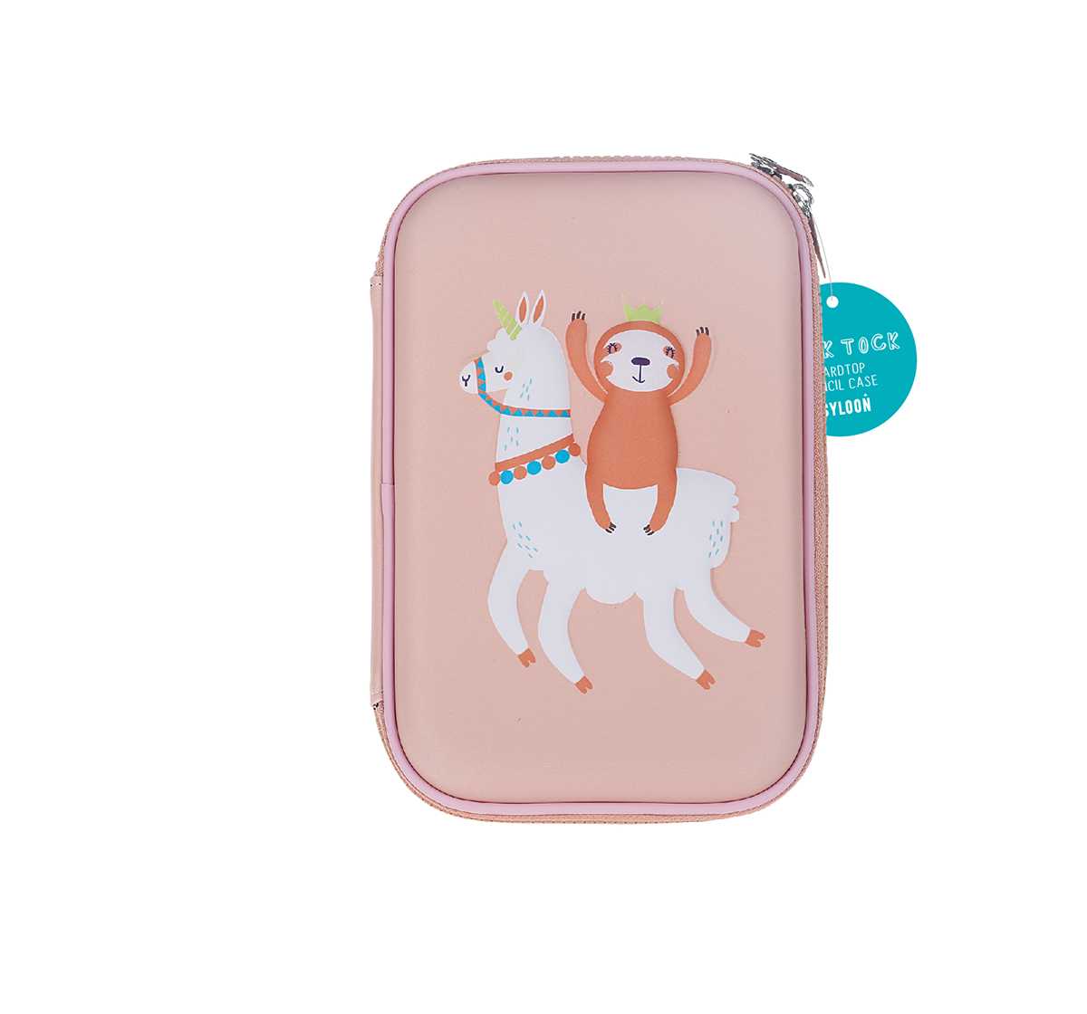 Syloon   Syloon Sloth Llama - Single Zipper Eva Pouch Pencil Pouches & Boxes for Kids age 5Y+