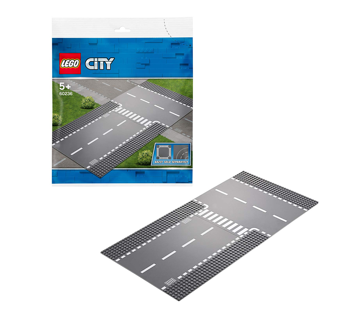 LEGO   Lego City Straight And T-Junction Building Blocks for Kids age 5Y+