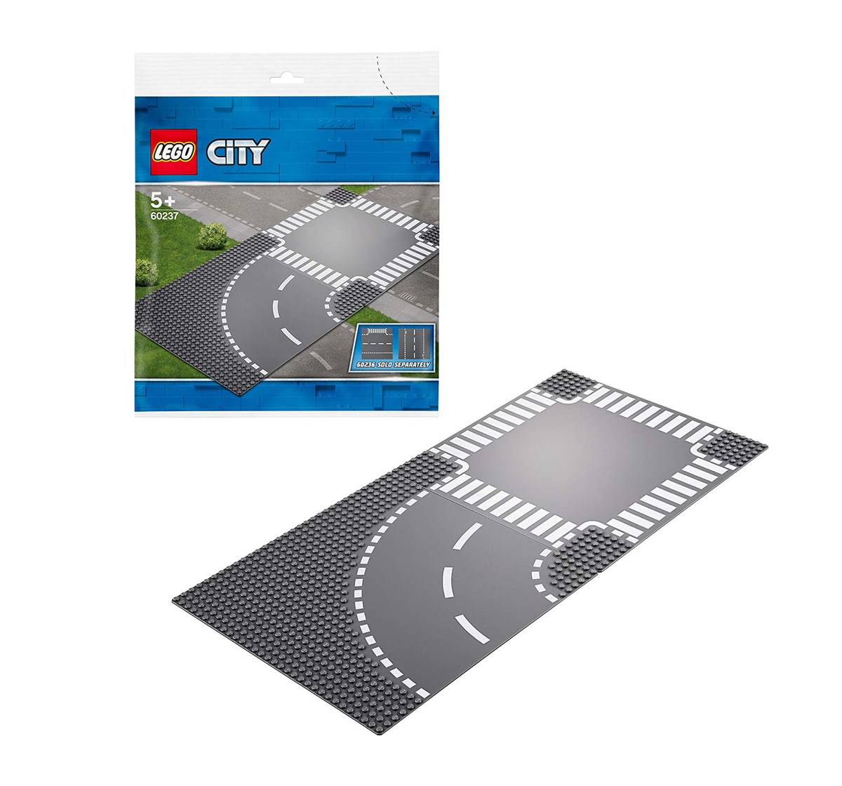 LEGO   Lego City Curve And Crossroad Building Blocks  for Kids age 5Y+