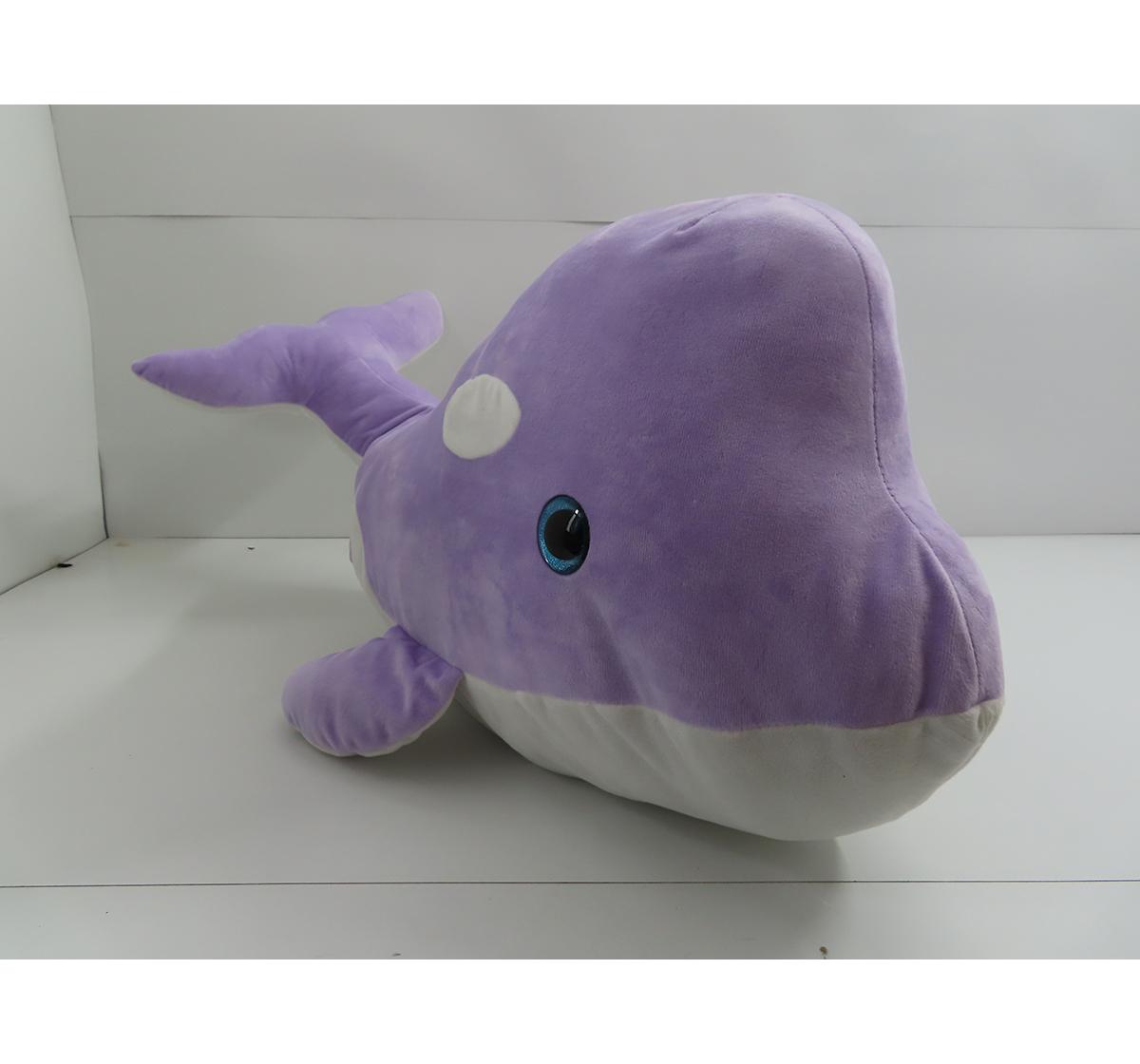 Fuzzbuzz   Fuzzbuzz Dolphin Plush - Purple - 100Cm Quirky Soft Toys for Kids age 12M+ - 33 Cm (Purple)
