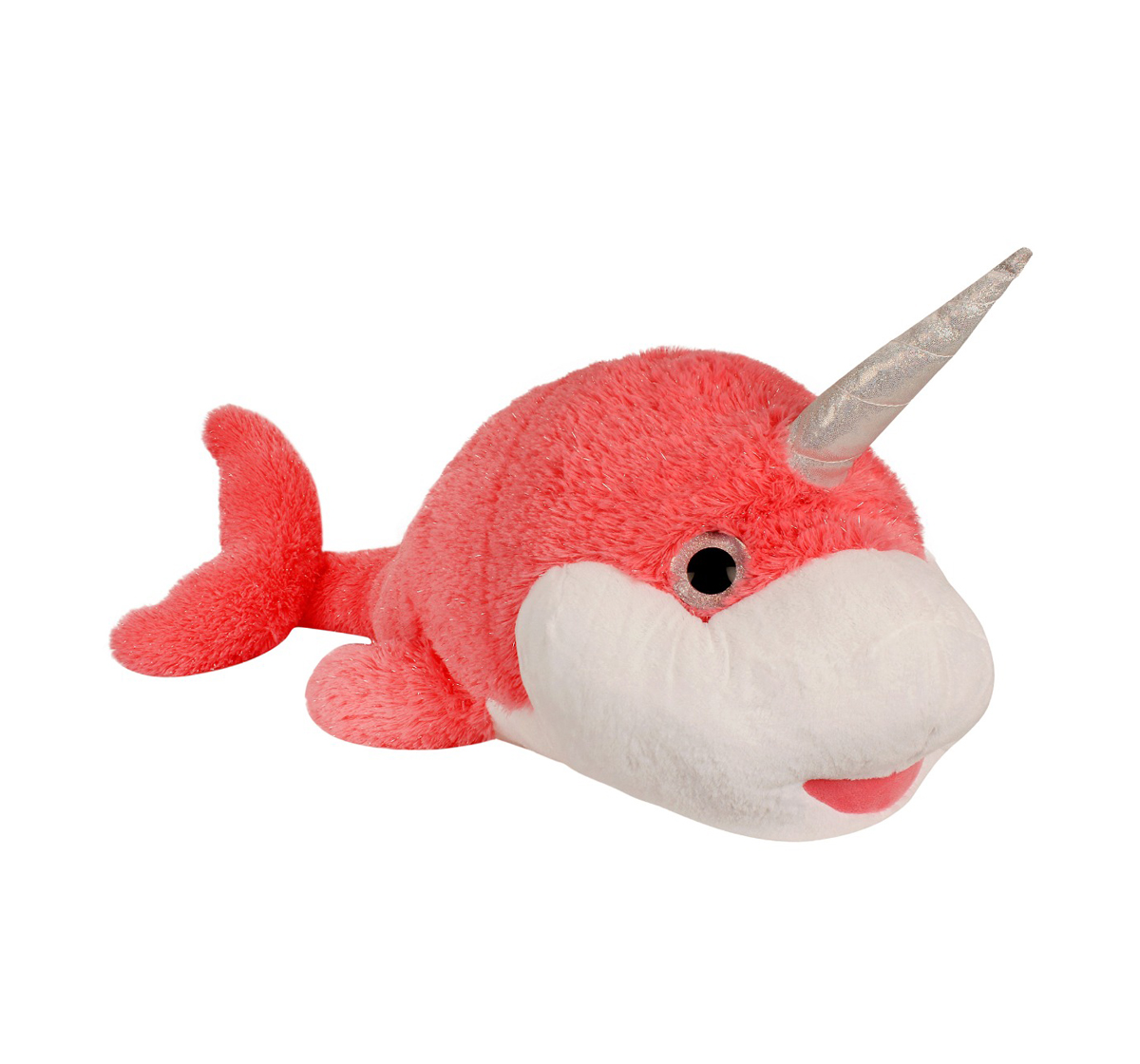 Fuzzbuzz | Fuzzbuzz The Narwhal Plush - Pink - 105Cm Quirky Soft Toys for Kids age 12M+ - 40 Cm (Pink)