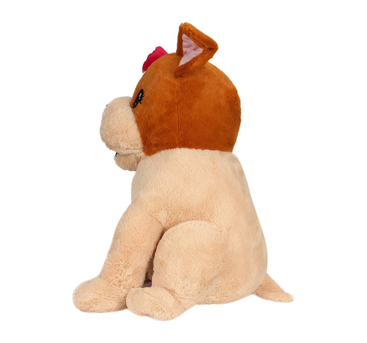 Fuzzbuzz | Fuzzbuzz Sitting Dog With Bow - Brown - 60Cm Quirky Soft Toys for Kids age 0M+ - 60 Cm (Brown)