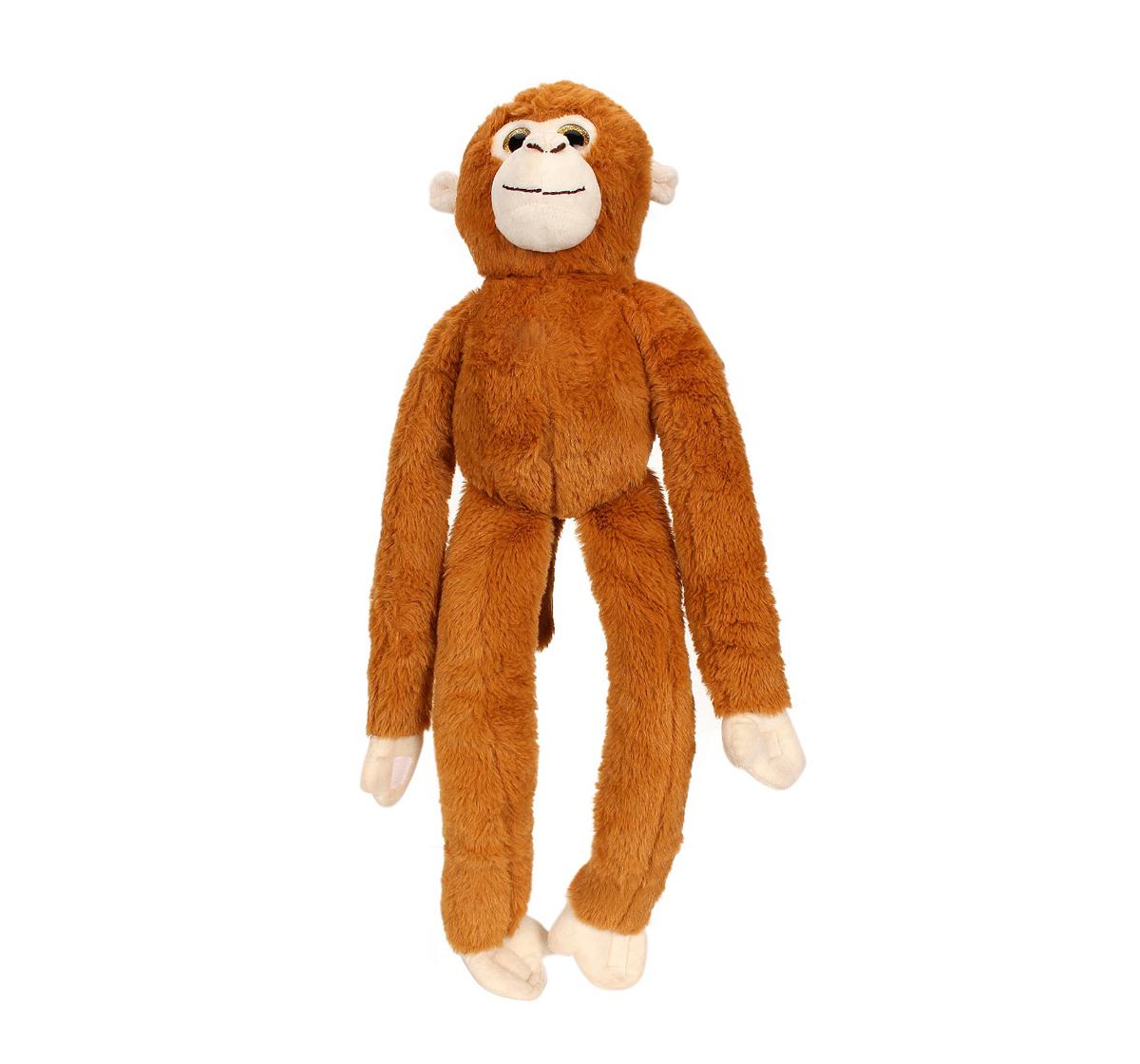 Fuzzbuzz | Fuzzbuzz Monkey Animal Plush - Brown - 61Cm Quirky Soft Toys for Kids age 0M+ - 12 Cm (Brown)