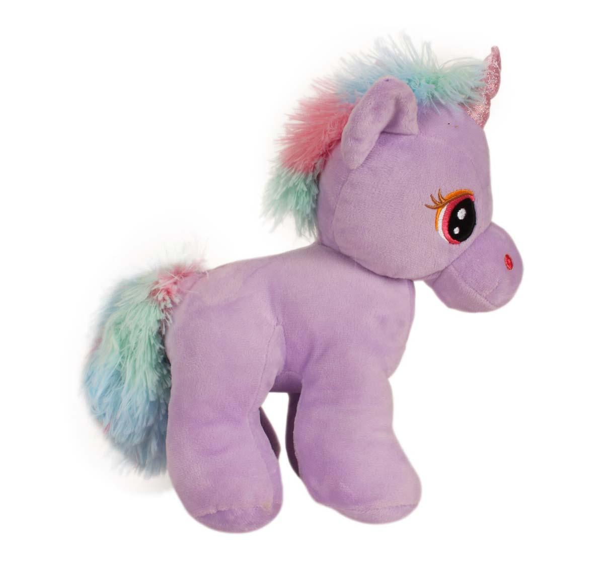 Fuzzbuzz | Fuzzbuzz Standing Unicorn - Blue - 28Cm Quirky Soft Toys for Kids Age 0M+ - 28 Cm (Blue)