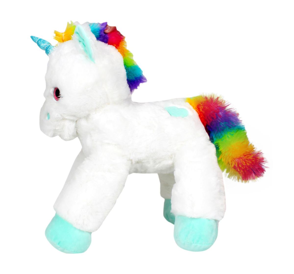 Fuzzbuzz | Fuzzbuzz Lying Unicorn Plush - White - 53Cm Quirky Soft Toys for Kids age 0M+ - 28 Cm (White)