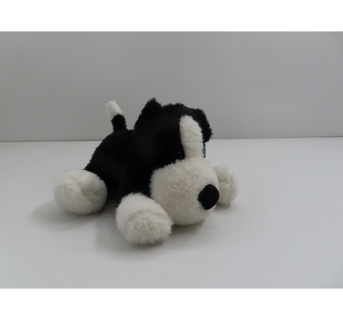 Fuzzbuzz | Fuzzbuzz Soft Lying Dog - Black - 33Cm Quirky Soft Toys for Kids age 0M+ - 15 Cm (Black)