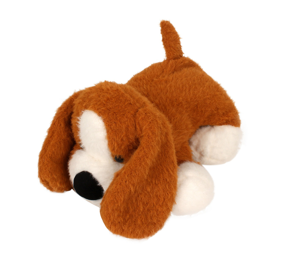 Fuzzbuzz | Fuzzbuzz Soft Lying Dog - Lt. Brown - 33Cm Quirky Soft Toys for Kids age 0M+ - 15 Cm (Light Brown)