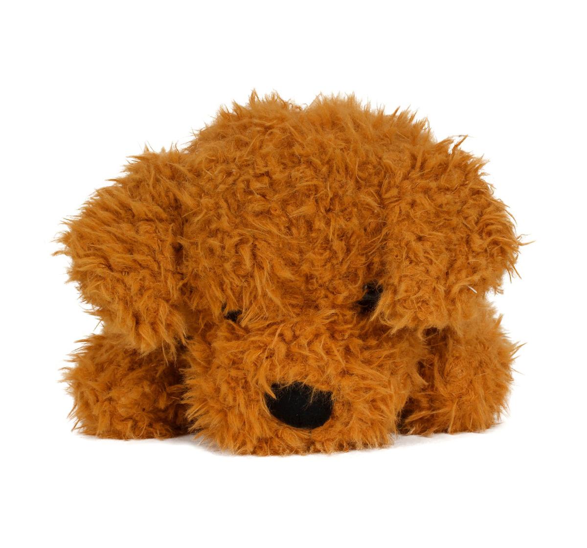 Fuzzbuzz | Fuzzbuzz Sitting Dog - Lt. Brown - 25Cm Quirky Soft Toys for Kids age 0M+ - 25 Cm (Light Brown)
