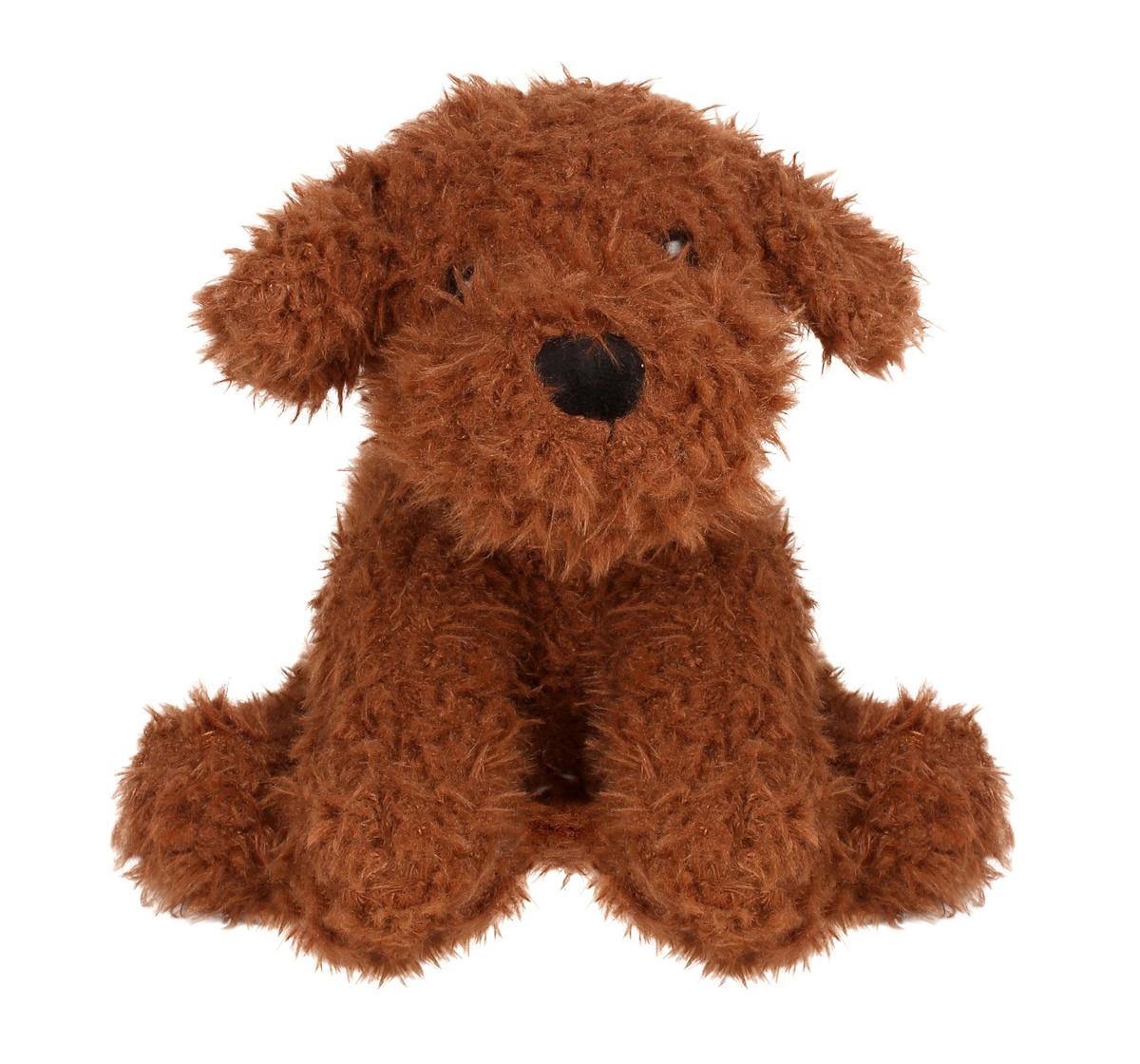 Fuzzbuzz | Fuzzbuzz Sitting Dog - Dark Brown - 25Cm Quirky Soft Toys for Kids age 0M+ - 25 Cm (Dark Brown)