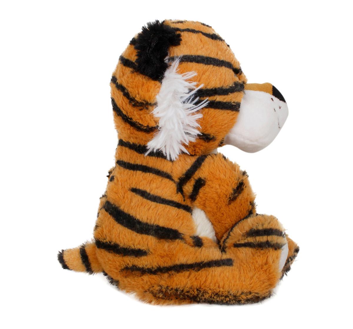 Fuzzbuzz | Fuzzbuzz Sitting Tiger - 25Cm Quirky Soft Toys for Kids age 0M+ - 25 Cm (Brown)
