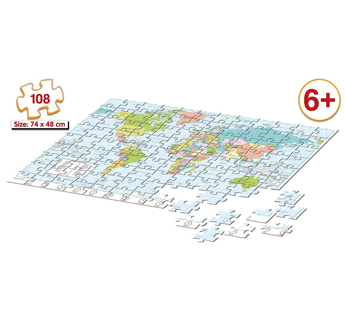Frank | Frank 2 In 1 Map Puzzles for Kids age 6Y+
